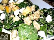 Chicken Salad with Quinoa, Apples, Goat Cheese Sweet Apricot Vinaigrette
