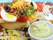Taco Salad Boats with Avocado Dressing #MexicanRecipes #FoodieExtravaganza