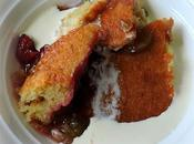 Rhubarb Raspberry Pudding Cake