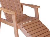 Wood Chaise Lounge Chair