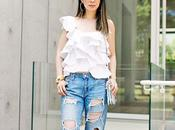 Ruffles Ripped Jeans