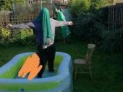 Nine Steps Using Paddling Pool
