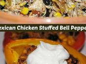 Super Healthy Mexican Stuffed Peppers with Chicken Rice