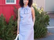 What Wear Work: Stripe Bow-Neck Dress