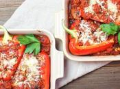 Italian Stuffed Peppers with Ricotta #DairyWeek