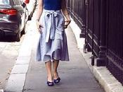 White Blue Striped Skirt