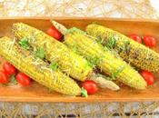 Basil Pesto Grilled Corn #CookoutWeek