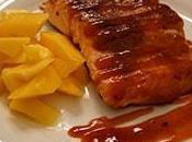 Seared Salmon Vinegar Mango Salad Recipe