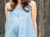 Blue Striped Shirtdress