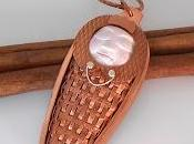 Child Face Woven Copper Setting Necklace This