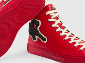 Leaps Bounds: Gucci Leather High-Top With Panther