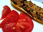 Stuffed Yellow Courgettes Served with Simple Fresh Tomato Slices!