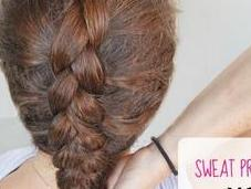 Sweat Proof Hairstyles: Dutch Braid