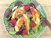 Avocot Salad with Raspberries #FarmersMarketWeek