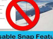 Disable Aero Snap Feature Windows