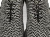 Sweet Wholecut: Thom Browne Black White Tweed Wholecut Derbys