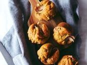 Banana Pear Walnut Muffins