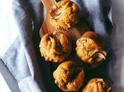 Banana Pear Walnut Muffins