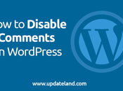 Disable Comments WordPress