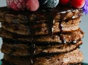 Chocolate Protein Pancakes with Sauce