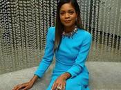 Naomie Harris Gorgeous Blue Swavorski Star Event