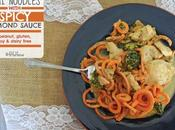 "Thai ""Noodles"" with Spicy Almond Sauce (gluten, Peanut, Dairy Free)"