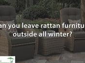 Leave Synthetic Rattan Garden Furniture Outside Winter?