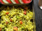 Coriander Vegetable Rice Kids