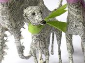 Altered Books, Folded Paper Sculptures Made from Books