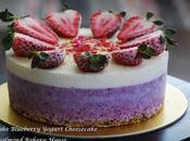 No-Bake Blueberry Yogurt Cheesecake 免烤蓝莓优格芝士蛋糕