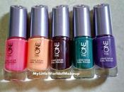 **The Long Wear Nail Polishes Oriflame with Swatches