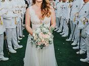 Romantic Military Wedding with Most Beautiful Flowers