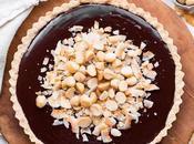 Dark Chocolate, Coconut Macadamia Tart (Gluten Free, Paleo Vegan)