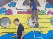 Boat School Eprave Sweet Wonderful Project with Pupils Village. Traced Lines They Colored Walls. Kids Proud Their School! Projet Très Chouette Avec Élèves D'une École...