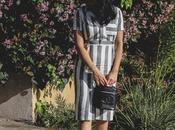 Work Style Striped Linen Dress