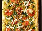 Spinach Tomato Hummus Tart Vegan Recipe