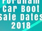 Fordham Boot Sale Dates 2018