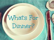 What's Dinner? Week Starting September 2018