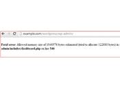 WordPress Memory Exhausted Error Increase Limit