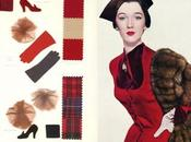 1950s Fashion Color Swatch Fall Dresses 1950
