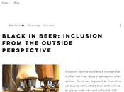 Worthy Reads Black Beer: Inclusion From Outside Perspective Toni Canada