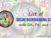 List Social Bookmarking Sites with Rank Address