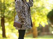 What Wore: Chico's Leopard Print Faux Coat