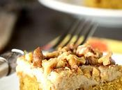 Pumpkin Bars with Maple Frosting Toasted Walnuts
