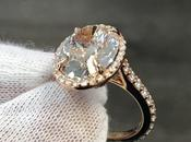 Beautiful 7-Carat Oval Rose Gold Engagement Ring