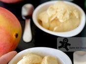 Creamy Mango Lassi Gelato Made with Egg, Cream Minimal Sugar
