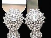 Admirably Images Wedding Cake Server with Swarovski Crystals