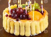 Great Pics Wooden Birthday Cake with Candles