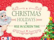 Christmas Holidays Rise Screen Time Infographic