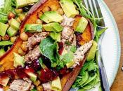 Recipe|| Spiced Turkey, Chickpea Cranberry Baked Sweet Potato